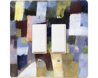 Paul Klee Painting Square Double Decora Rocker Light Switch Plate Cover