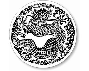Oriental Dragon Round Mousepad