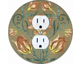Victorian Floral Duplex Outlet Plate Cover