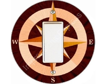 Nautical Compass Decora Rocker Switch Plate Cover