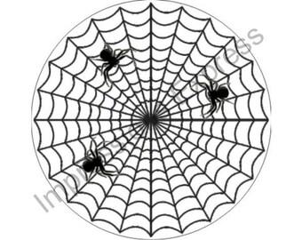 Spider Web Round Mousepad