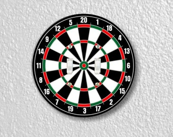 Darts Dartboard Round Double Toggle Light Switch Plate Cover