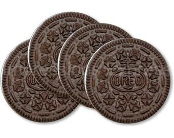 Chocolate Sandwich Cookie Coasters - Set of 4