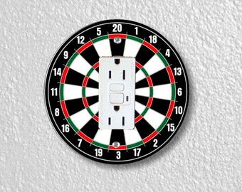 Darts Dartboard Round GFI Grounded Outlet Plate Cover