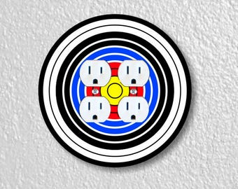 Archery Target Double Duplex Round Outlet Plate Cover