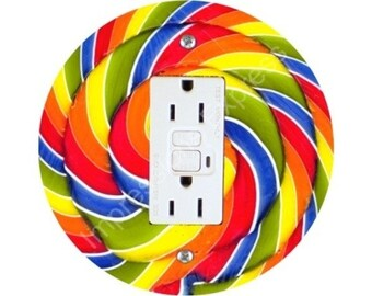 Giant Lollipop GFI Outlet Plate Cover