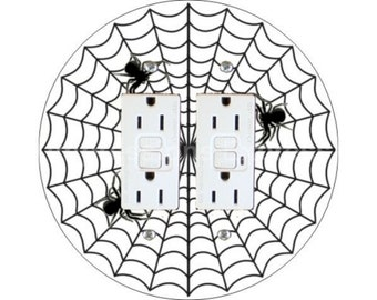 Spider Web Double GFI Outlet Plate Cover
