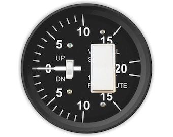 Vertical Speed Indicator Toggle and Decora Rocker Switch Plate Cover