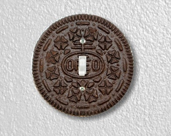Chocolate Sandwich Cookie Round Single Toggle Switch Plate Cover