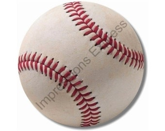 White Baseball Round Mousepad