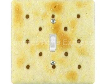 Saltine Cracker Square Single Toggle Light Switch Plate Cover