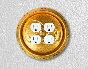 Beer Can Round Double Duplex Outlet Plate Cover