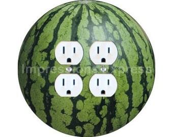 Watermelon Fruit Double Duplex Outlet Plate Cover
