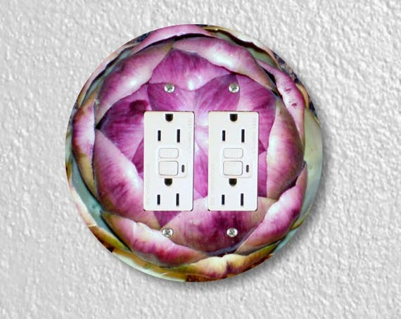 Artichoke Double Grounded GFI Round Outlet Plate Cover