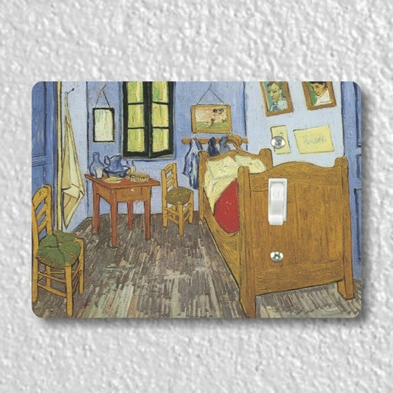 The Bedroom Van Gogh Art Painting Precision Laser Cut Toggle and Decora Rocker Light Switch Wall Plate Covers