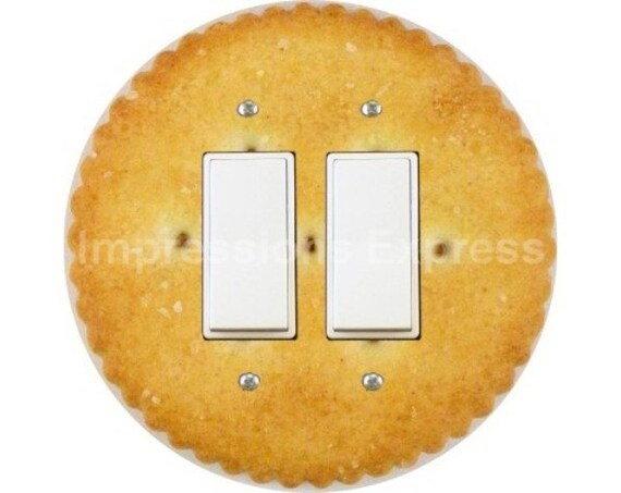 Round Cracker Decora Double Rocker Switch Plate Cover