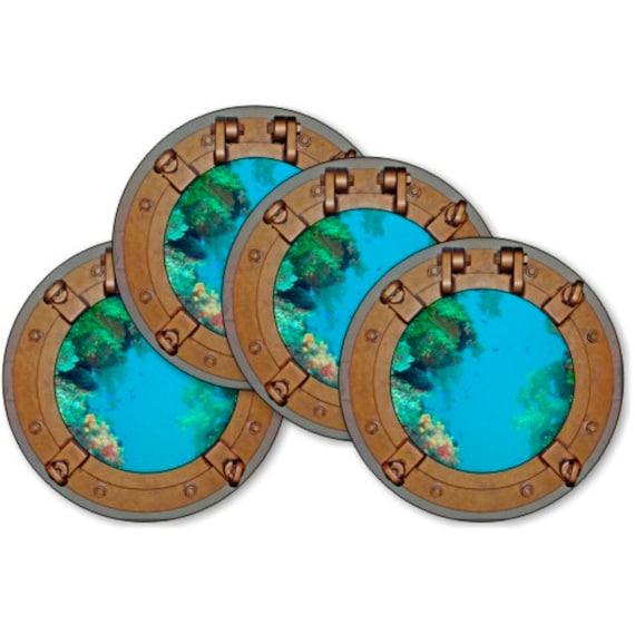 Porthole Nautical Coasters - Set of 4