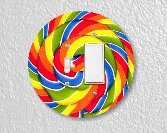 Giant Lollipop Toggle and Decora Rocker Switch Plate Cover