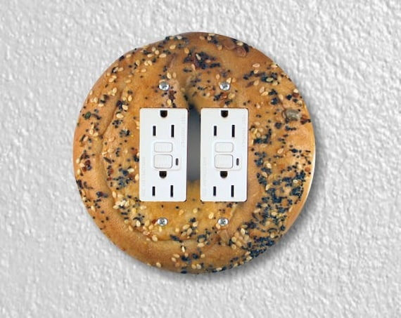 Bagel Round Double Grounded GFI Outlet Plate Cover
