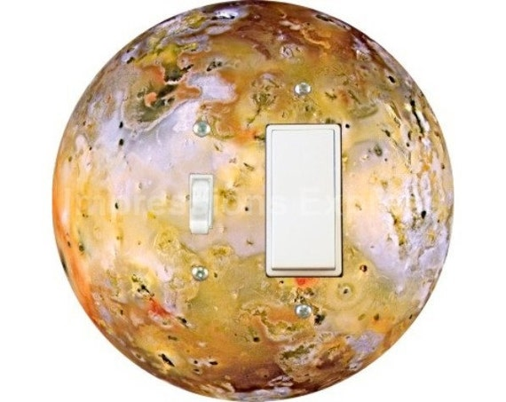 Jupiter Moon Io Space Toggle and Decora Rocker Switch Plate Cover