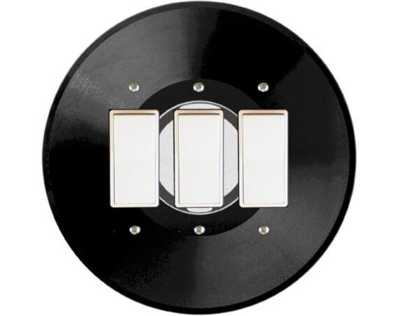 Vinyl Record Triple Decora Rocker Switch Plate Cover