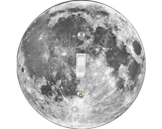 Moon from Space Single Toggle Switch Plate Cover