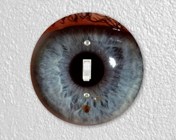 Eye Ball Round Single Toggle Light Switch Plate Cover