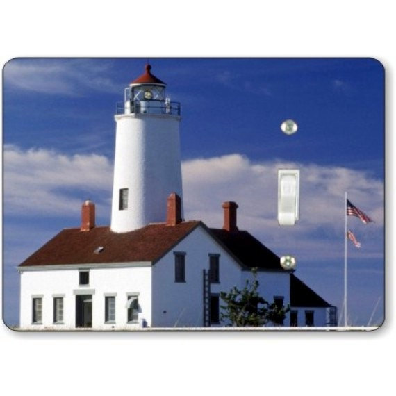 Lighthouse Nautical Single Toggle Light Switch Plate Cover