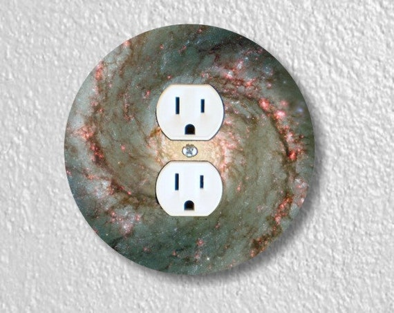 Whirlpool Galaxy Space Round Duplex Outlet Plate Cover