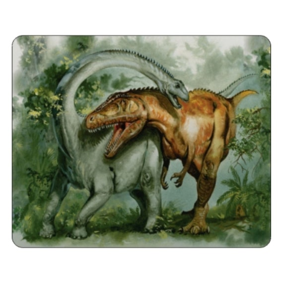 Rebbachisaurus & Giganotosaurus Dinosaur Mousepad