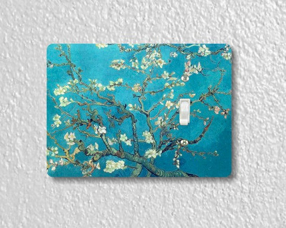 Almond Branches Van Gogh Art Painting - Precision Laser Cut Toggle And Decora Rocker Light Switch Plate Covers - Home Decor - Wall Plates