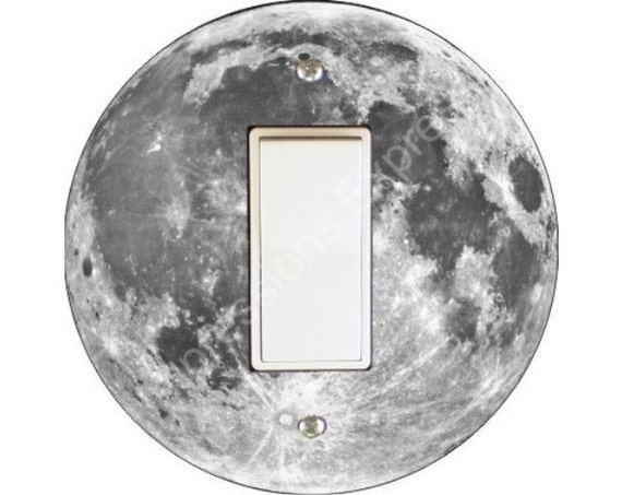 Moon from Space Decora Rocker Switch Plate Cover