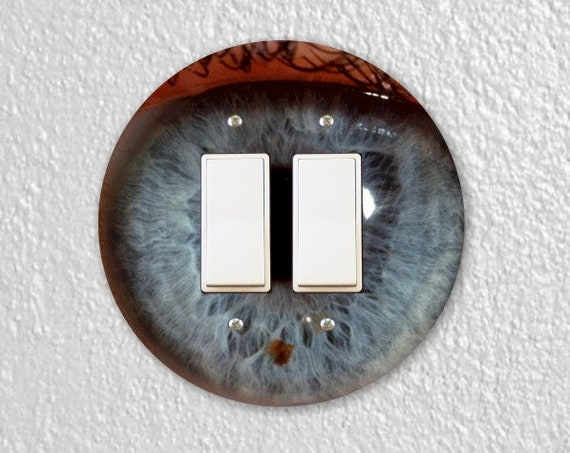 Eye Ball Round Decora Double Rocker Light Switch Plate Cover