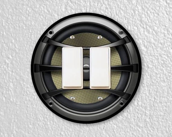 Audio Music Speaker Round Decora Double Rocker Switch Plate Cover