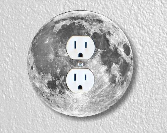 Moon from Space Round Duplex Outlet Plate Cover