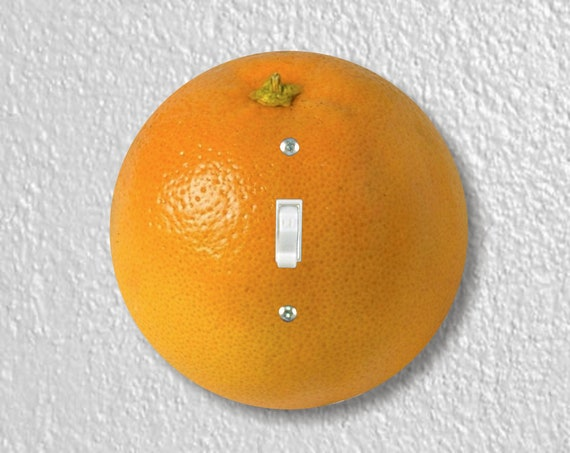 Orange Fruit Precision Laser Cut Toggle and Decora Rocker Round Light Switch Wall Plate Covers