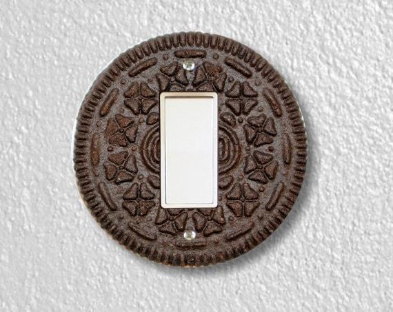 Chocolate Sandwich Cookie Round Decora Rocker Light Switch Plate Cover