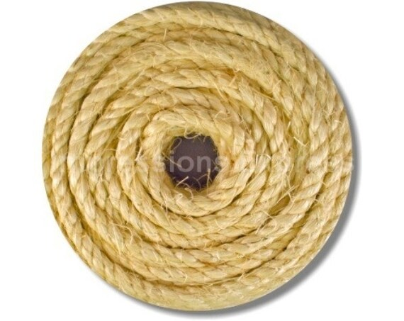 Nautical Sisal Rope Round Mousepad