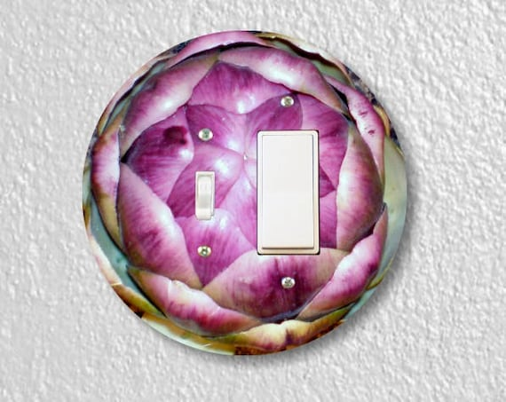 Artichoke Toggle and Decora Rocker Round Light Switch Plate Cover