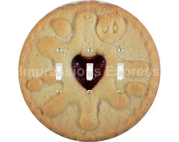 Jam Filled Cookie Triple Toggle Switch Plate Cover
