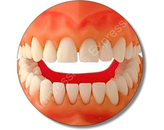 Teeth Round Mousepad