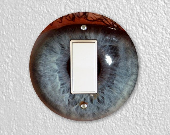 Eye Ball Round Decora Rocker Switch Plate Cover