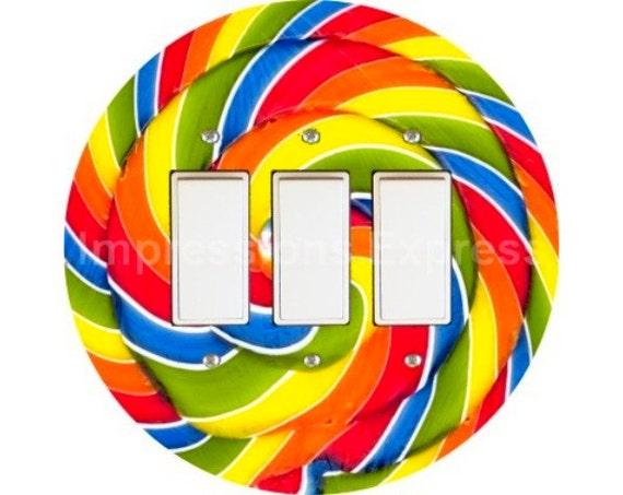 Giant Lollipop Triple Decora Rocker Switch Plate Cover