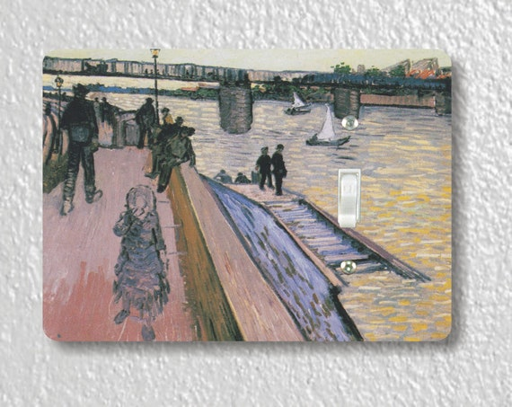 The Bridge of Triquetaille Van Gogh Art Painting Precision Laser Cut Toggle and Decora Rocker Light Switch Wall Plate Covers