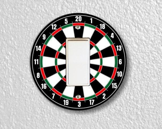 Darts Dartboard Round Decora Rocker Light Switch Plate Cover