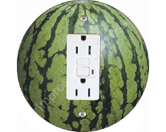 Watermelon Fruit GFI Outlet Plate Cover