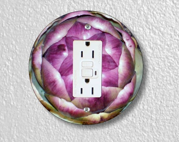 Artichoke Grounded GFI Round Outlet Plate Cover