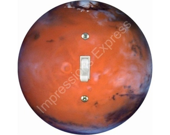 Red Planet Mars Space Single Toggle Switch Plate Cover