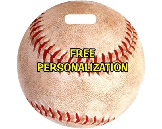 Baseball Ball Sport Round Personalized Luggage Bag Tag