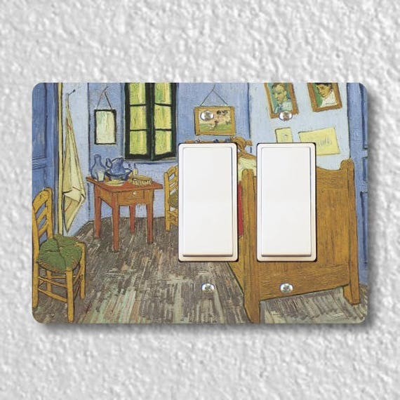 The Bedroom Van Gogh Painting Double Decora Rocker Light Switch Plate Cover